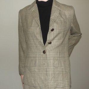 Ralph Lauren Polo Plaid Sport Coat tan/brown